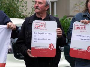Solidaritätsaktion am 25.9.2014 vor dem Arbeitsgericht Gelsenkirchen