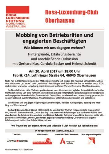 BR-Mobbing Veranstaltung 20.4.2017 in Oberhausen